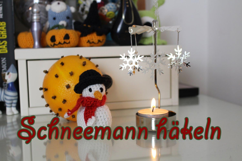 Schneemann häkeln im Amigurumi-Stil - kostenlose Anleitung - Talu.de | 1000x1500